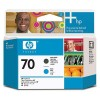 Печатающая головка HP 70 Matte Black and Cyan Printhead (C9404A)